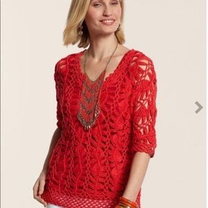 Chico's Macrame Pullover Sweater